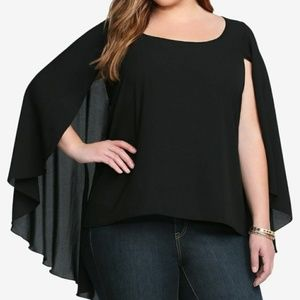 Torrid Black Cape Top